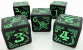 Black & Green Arkham Horror Dice Set